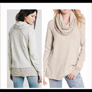 Free People Beach Cocoon Cowl neck Pullover OS